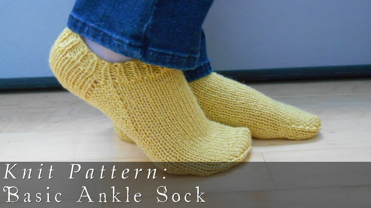 Basic Ankle Sock  |  Knit Pattern