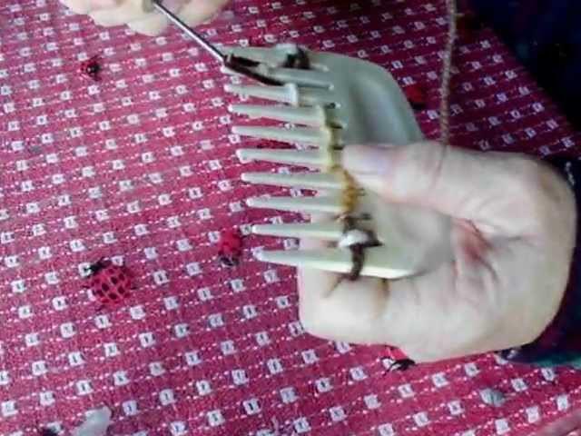 Comb knitting
