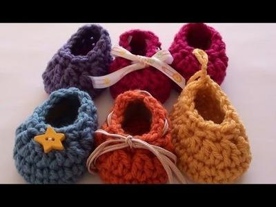 Craft Show Crochet Baby Booties - Newborn Size