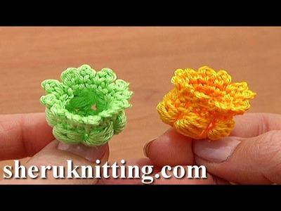 Crochet 3D Bellflower Tutorial 68 Part 1 of 3 Center for Poppy Flower Narcissus Daffodil