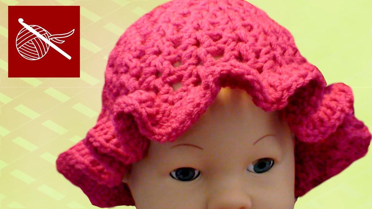 CROCHET BABY CAP CIPRESO WITH RUFFLE Crochet Geek