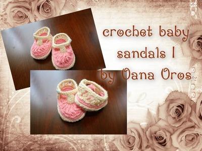 Crochet baby sandals part I