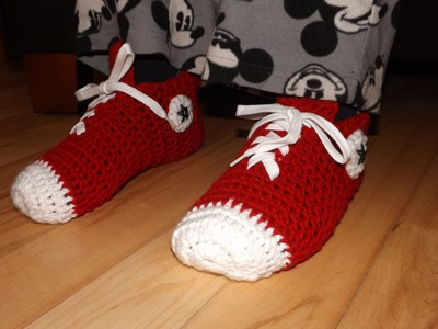 Crochet Converse Sneakers O Zapatillas Para Adulto.