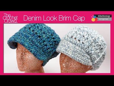 Crochet Denim Look Visor Cap