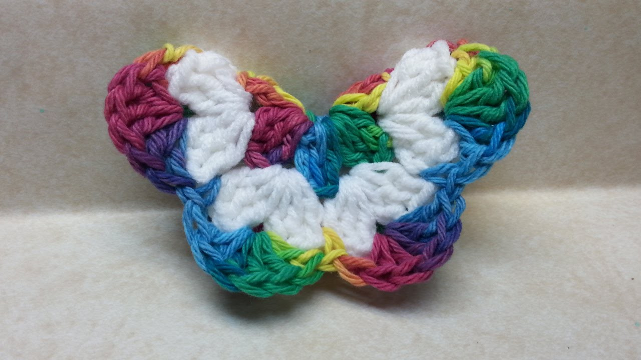 #Crochet Easy 3D Butterfly #TUTORIAL Easy crochet tutorial