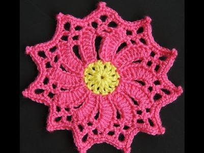 Crochet : Flor # 4