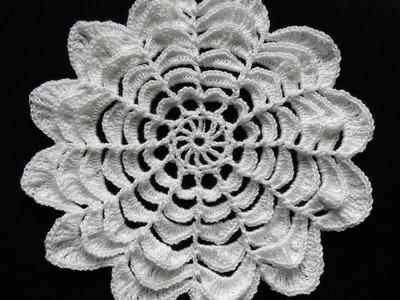 Crochet : Flor de 12 Petalos. Parte 1 de 3