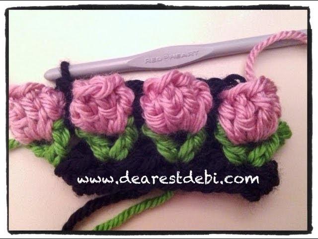 Crochet Flower Bud Popcorn Stitch