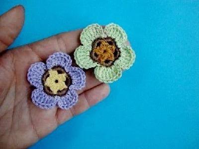 Crochet flower free Вязаный цветок Урок 59