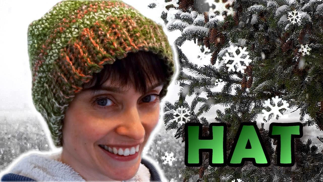 Crochet Hat Tutorial - Easy Perfect Fit!
