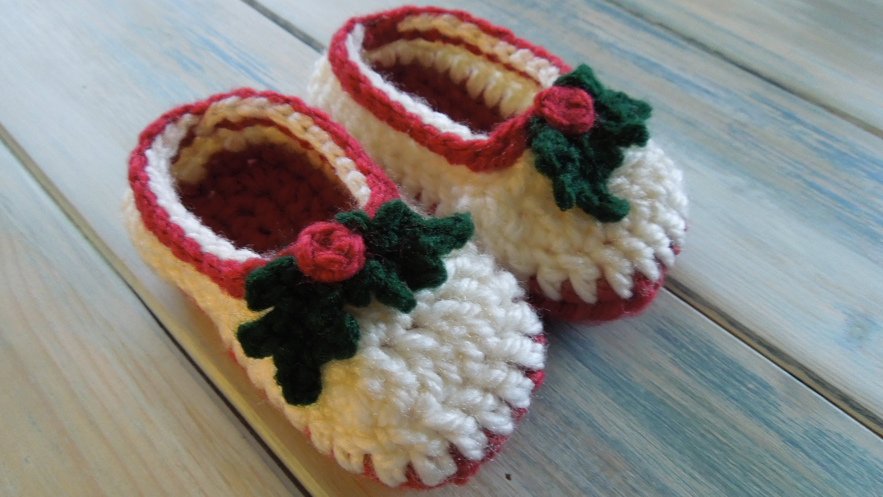 (crochet) How To - Crochet Simple Chunky Baby Booties
