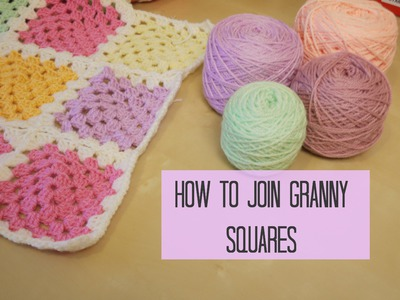 CROCHET: How to join granny squares for beginners | Bella Coco