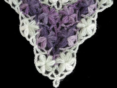 "Crochet : Punto Flores Puff en ""V"""