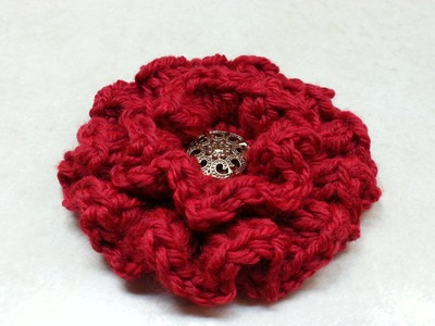 #Crochet Ruffle Flower #TUTORIAL Easy crochet tutorial
