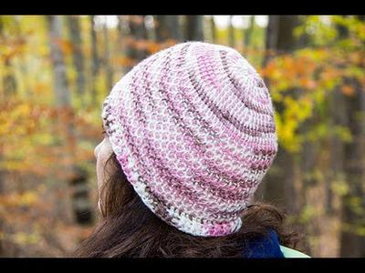 Crochet Tunecino : Gorro # 1.  Parte 1 de 2