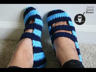 Crochet Tutorial: Double Strapped Slippers