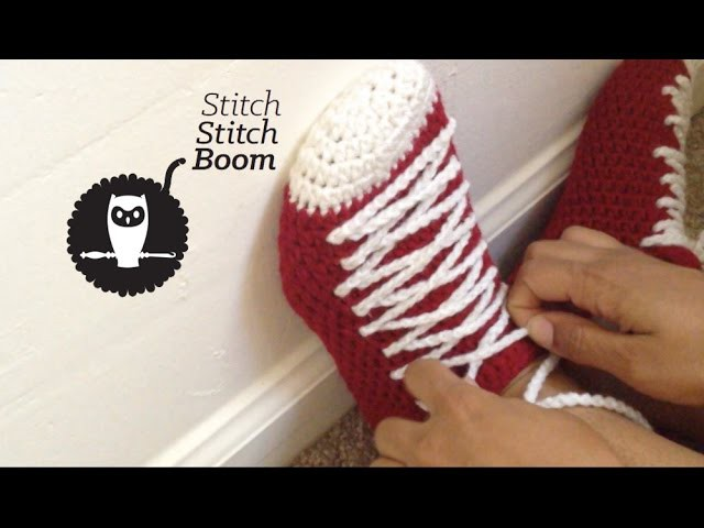 Crochet Tutorial: Sneaker Slippers