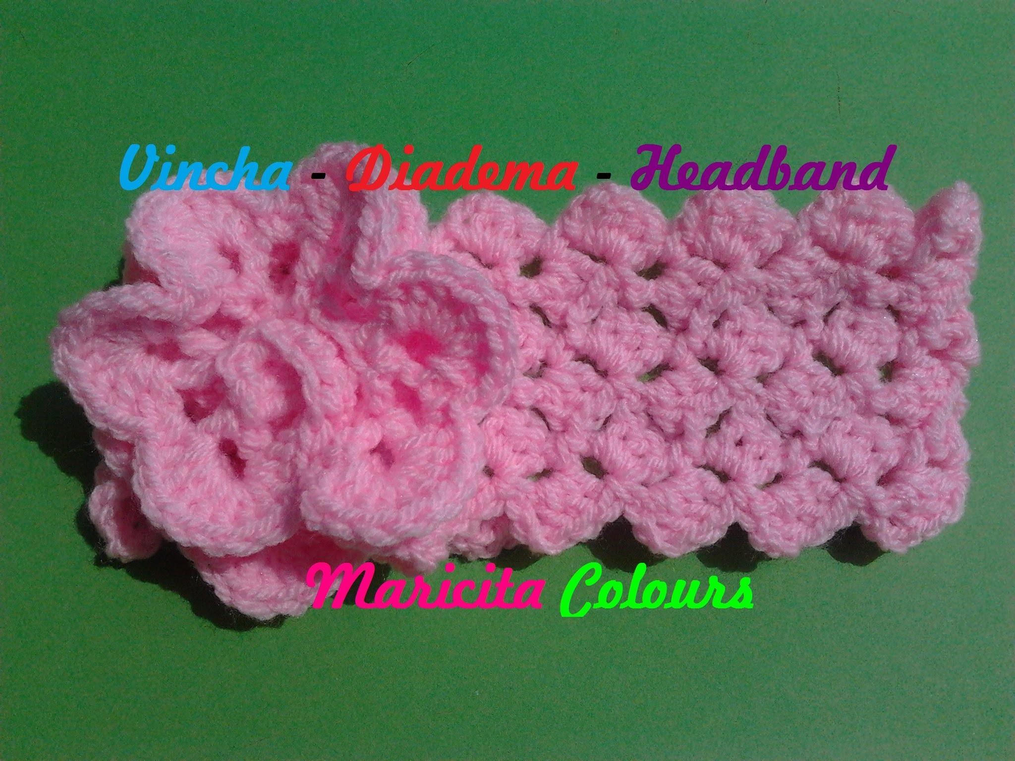 """Crochet Tutorial Vincha Diadema """"Ykita"""" Headband - Haarband Subtitles English & Deutsch"""