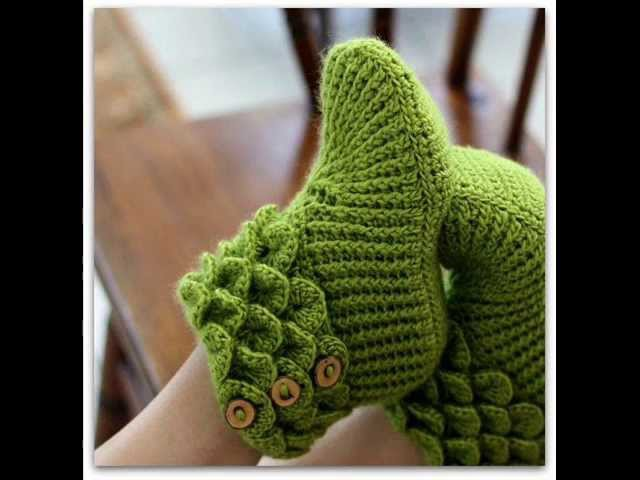 Crocodile Stitch Boots Adult Sizes Crochet Pattern Presentation