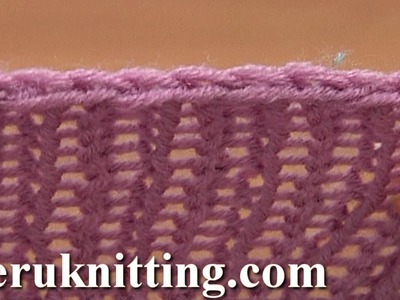 Decrease Bind off In Pattern Knit Ribbing K1 P1 Tutorial 7 Method 3 of 12