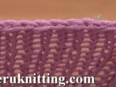 Decrease Bind off In Pattern Knit Ribbing K1 P1 Tutorial 7 Method 3 of 12