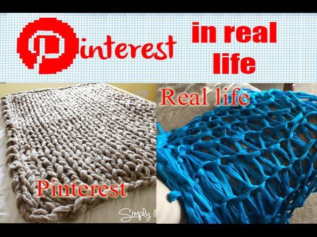 DIY Arm Knit Blanket- Pinterest in Real Life