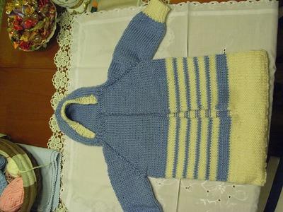 DIY* Baby Schlafsack Stricken*baby sleeping bag knit*TEIL 3**Tutorial Handarbeit