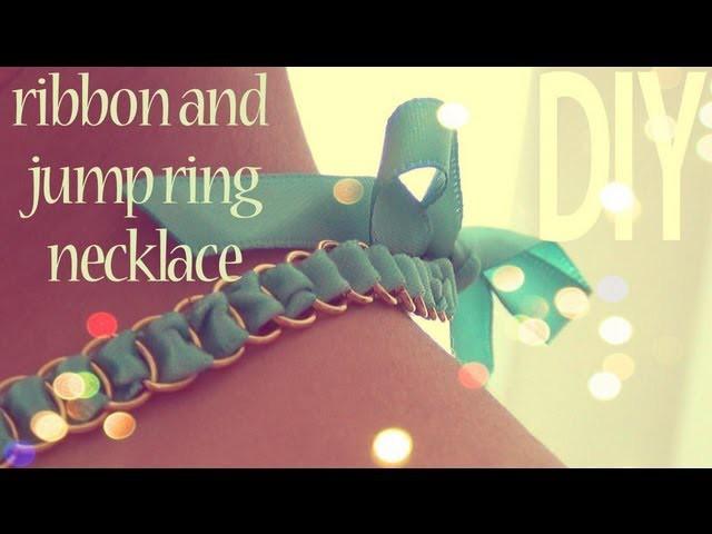 DIY Fashion ♥ Ribbon Jump Ring Necklace