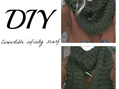 DIY: Hand Knitted Convertible Infinity.Circle Scarf