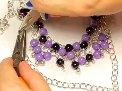 "DIY: Necklace ""Lilac"". Ожерелье ""Сирень"". Handmade- Мастер-класс [2 из 5]."