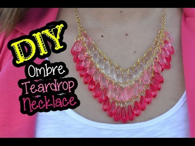 DIY Ombre Teardrop Necklace ft. @hisandhers_fashion