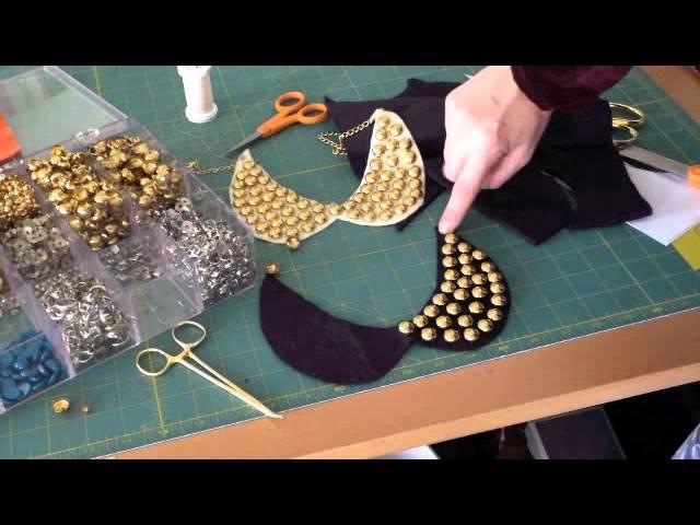 DIY Stud Collar Necklace