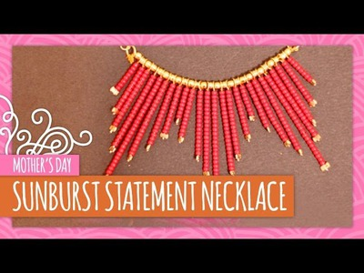 DIY Sunburst Statement Necklace- HGTV Handmade