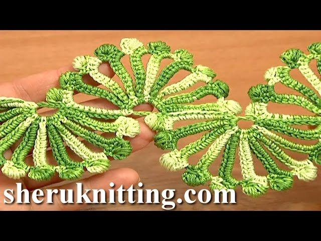 Double Sided Large Shells Crochet Lace Tutorial 10 Crochet Shell Motifs