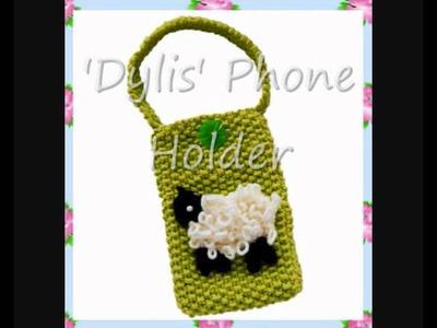 Dylis Sheep Lamb Mobile Phone Holder Case Bag DK Knitting Pattern