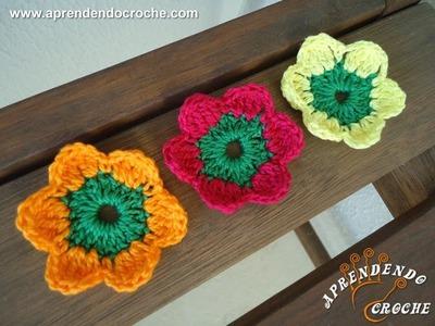 Flor de Crochê Maria sem Vergonha - Aprendendo Crochê
