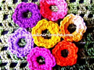 Flores Em Crochê 005 - Mini Flor