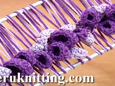 Hairpin Lace Crochet Spring Pattern Tutorial 37 Hairpin Crochet Flowers and Leaves