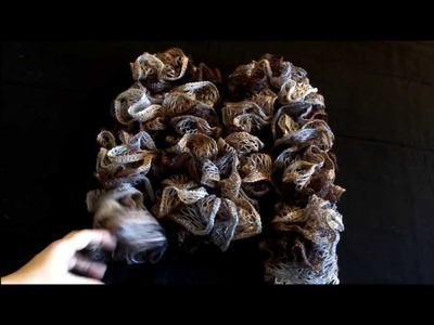 How to crochet 2 different ways Sashay ruffle scarf