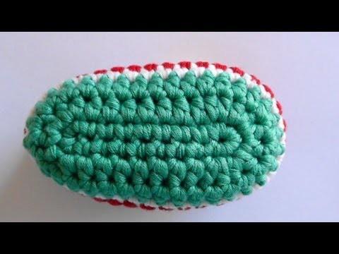 How to Crochet Baby Bootie Sole - Crochet Baby Bootie Sole