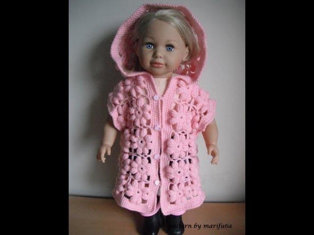 How to crochet baby puff flower body warmer jacket coat tutorial