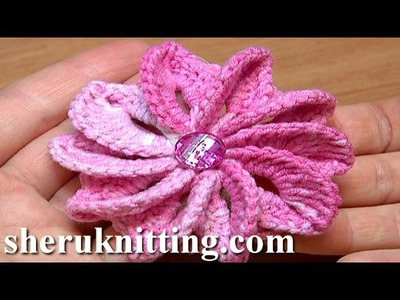 How To Crochet Flower Asymmetrical Petals Tutorial 43 Egzotyczny kwiatek