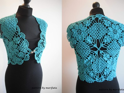 How to crochet mint bolero shrug free pattern tutorial by marifu6a