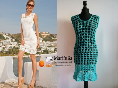 How to crochet summer dress tunic free tutorial pattern by marifu6a