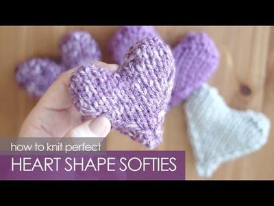 How to Knit a Heart Shape | Puffy Heart Softies