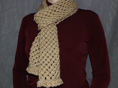 How to knit a scarf - a cell pattern women's scarf