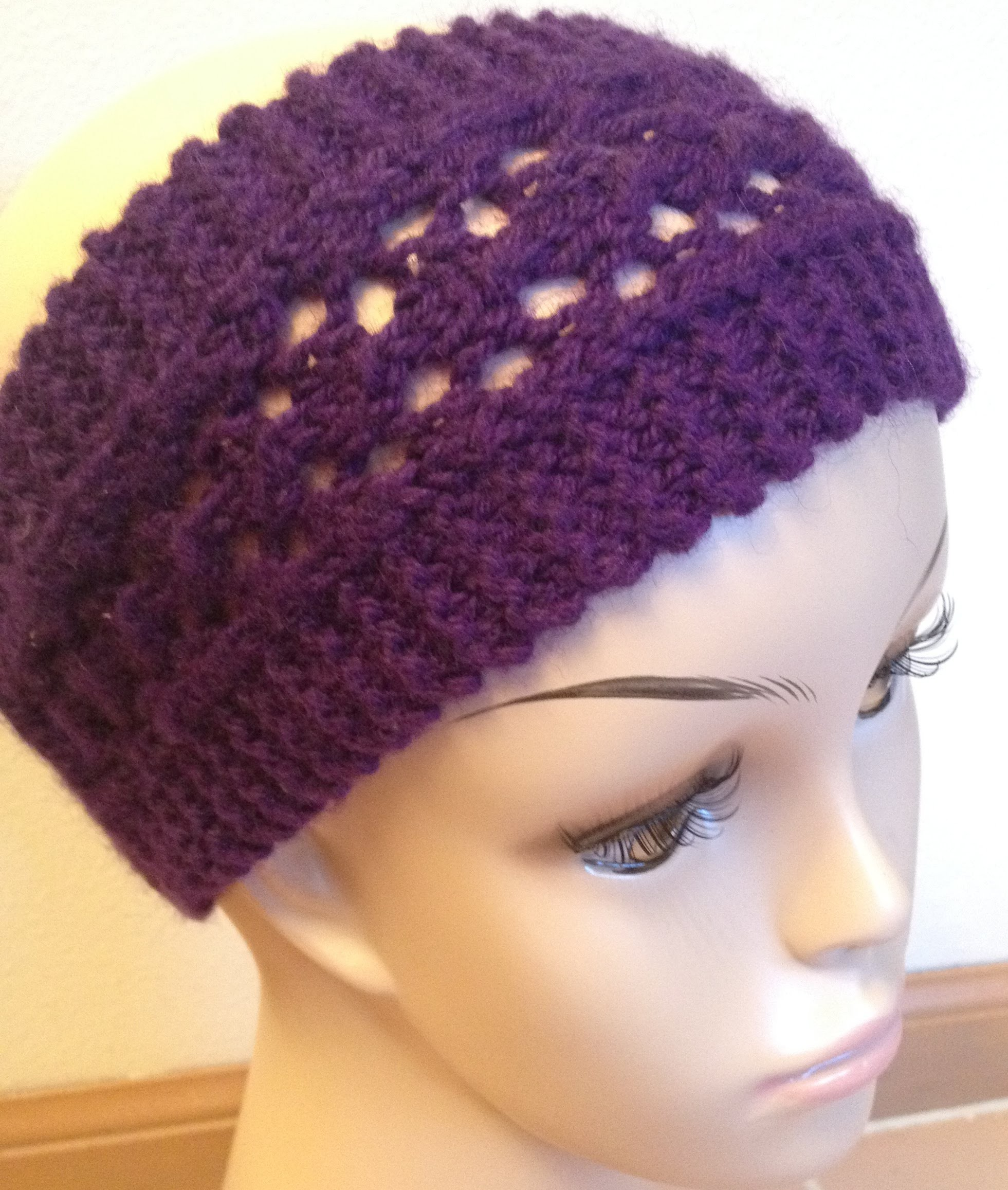 How To Knit Easy Lacy Headband - Knitting Lace For Beginners