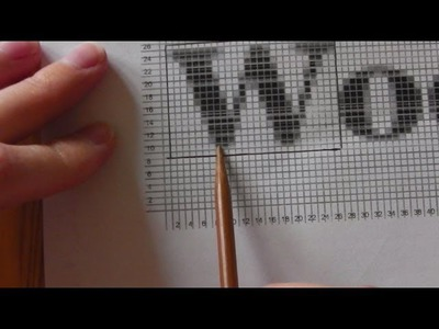 How to knit graphics pictures