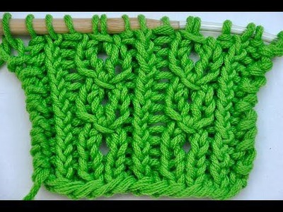 How to Knit * Lace stitch cablelike * Knitting stitch, cable stitch, lace
