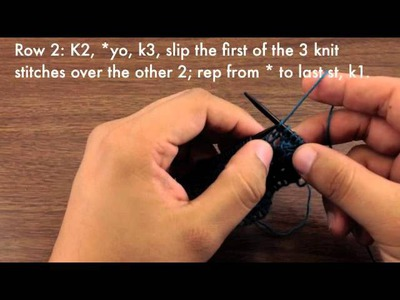 How to Knit the Knotted Openwork Stitch (English Style)